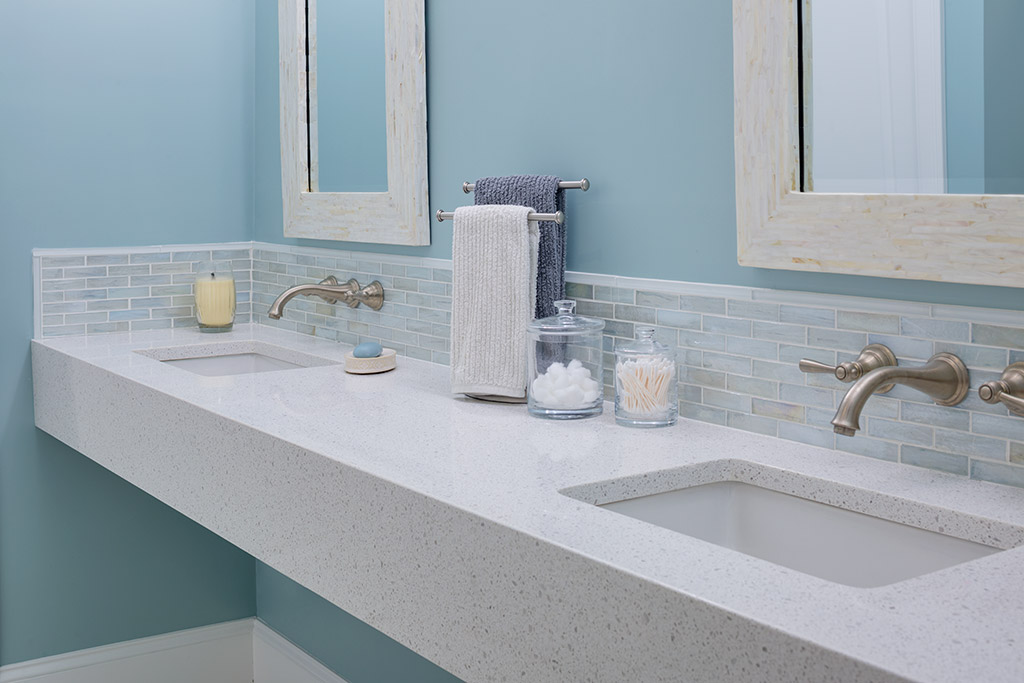 Eco White Diamond Wall Mount Vanity (Photo: Greg Premru)